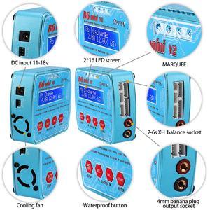 Image 4 - HTRC Imax B6 Mini V2 80W 7A Kỹ Thuật Số RC Pin Cân Bằng Sạc Adapter PB Lipo Lihv Liion Cuộc Sống niCD NiMH Pin Discharger