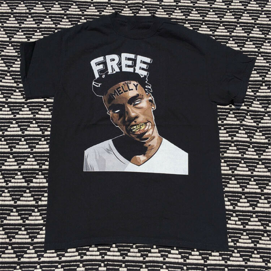 YNW Melly Tour Dates 2020 Concert Free Melly Black T-Shirt Tee Shirt New Unisex Funny