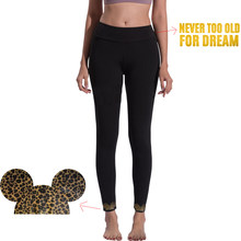 Yoga Broek Luipaard Mickey Vrouwen Sport Running Sportkleding Fitness Leggings Naadloze Tummy Controle Gym Panty Cartoon Mouse Broek(China)