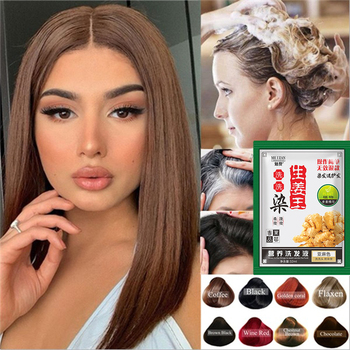 1PC Multicolor Hair Shampoo Instant Hair Dye White Grey Hair Cover Up Long Lasting Natural Ginger Extracts Hair Styling Tools 1
