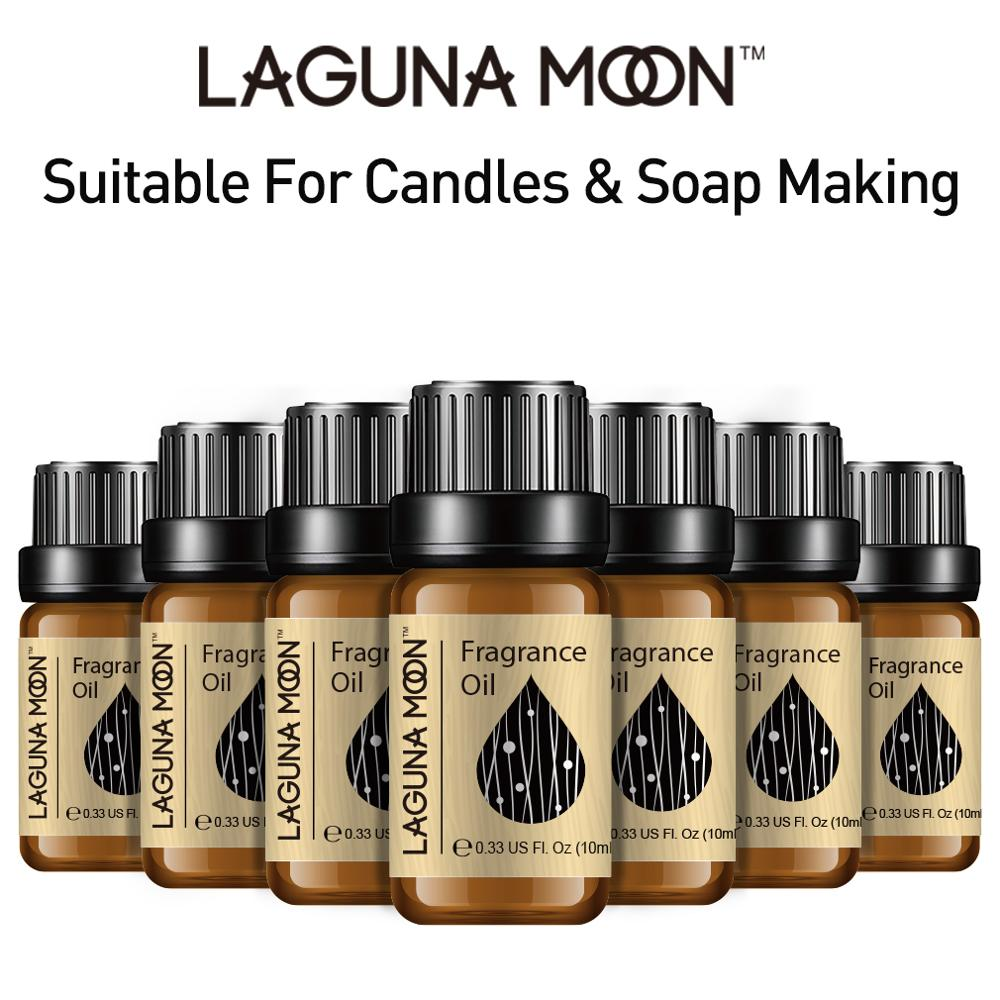 Lagunamoon 10ml Fresh Linen Fragrance Oil Flower Fruit Essential Oil Strawberry Bubble Gum Parma Coconut Mandarin Orange Oil