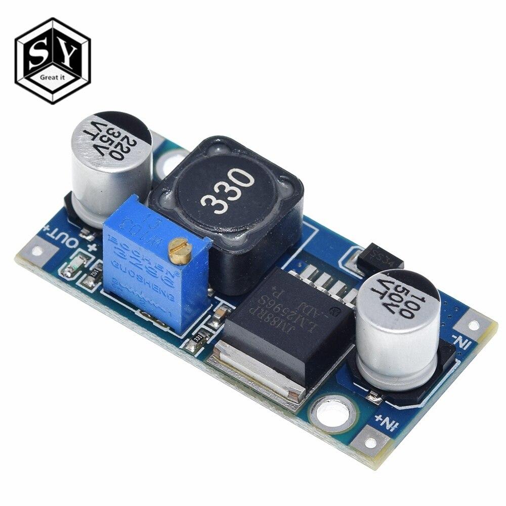 1 шт. ультра-маленький модуль питания LM2596, постоянный ток, 3 А, настраиваемый понижающий модуль-регулятор Ultra LM2596S, 24 В, переключатель 12 В, 5 В, 3 в