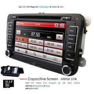 7''2Din Car DVD Player Radio GPS Navigation For VW Golf Polo Jetta Touran Mk5 Mk6 Passat B6 Stereo Bluetooth SWC RDS Mirror-Link