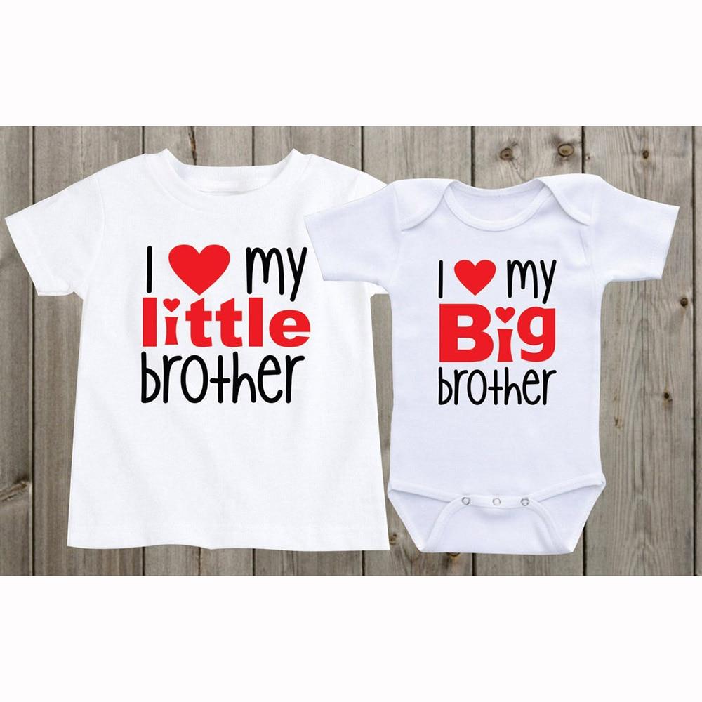 Passenden Shirts Geschwister Shirts Set von 2 ICH Liebe Meine Große Bruder Wenig Brother Passenden Geschwister Shirts Baby Dusche Geschenke