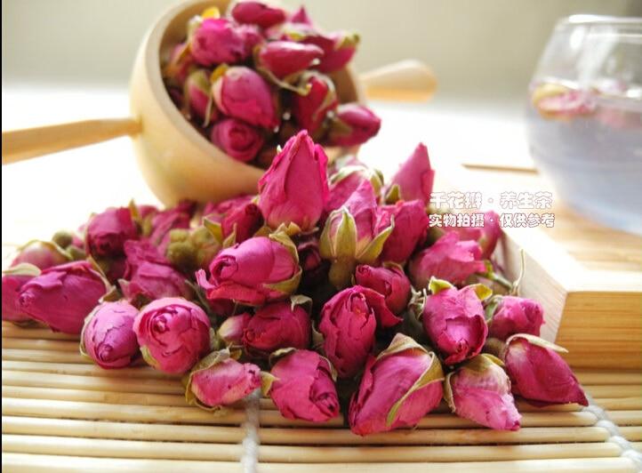 2020 100g Rose Tea Dried Roses Pingyin Roses Edible Rose flower Tea Fresh Natural Buds Bulk