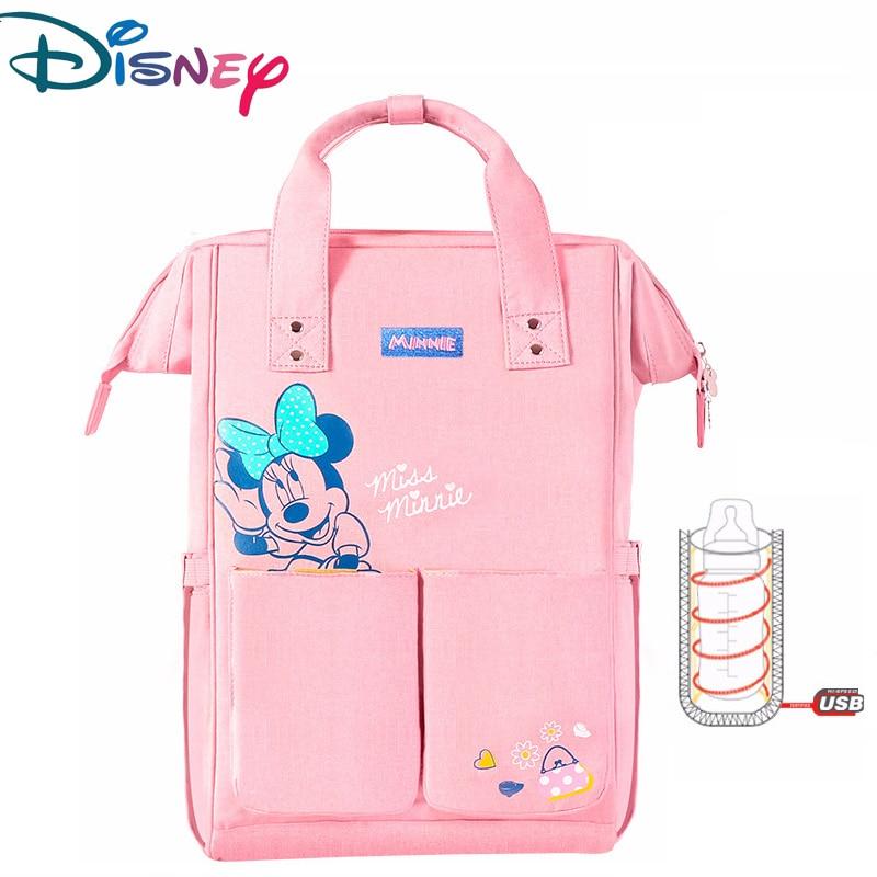 Disney Diaper Bag Mother Backpack Large Capacity Diaper Bag Pregnant Women Backpack Baby Stroller Bag Mickey Minnie Backpack