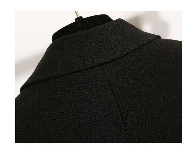 2021 Free Shipping Autumn Winter New Casual Blazer Coat Women Medium Long Slim Fashionable Versatile Business Suit Black Coats 5