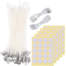 202 Pcs Candle Making Kit Diy Candles Craft Tools Cotton Candle Wicks With Candle Wick Stickers And Centering Device