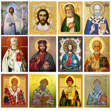 DIY Diamond Painting Cross Stitch Religion Icon of Leader Diamond Mosaic True Religious Men Diamond Embroidery Rhinestones full round diamant painting 5d diy diamond painting cross stitch religion icon of leader diamond mosaic true religious men