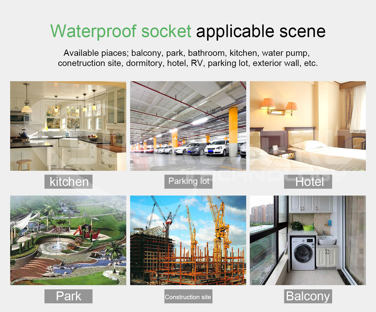Tuya Outdoor IP44 Smart 16A Plug EU Standard WiFi Timing Power Energy Monitor Socket Works for Alexa Google Assistant