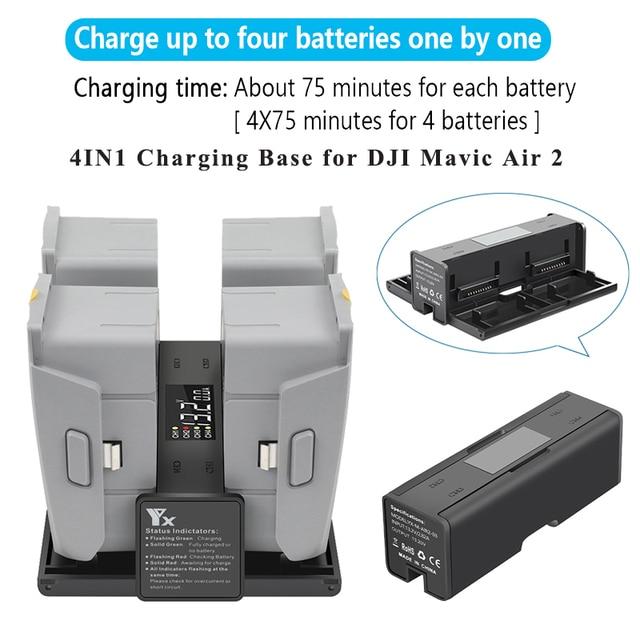 4IN1 バッテリー充電ベーススチュワード家政婦執事延長ハブユニバーサル充電器dji mavicため空気 2 ドローン