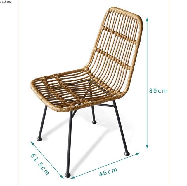 Hand-Woven Iron Balcony Chair 6
