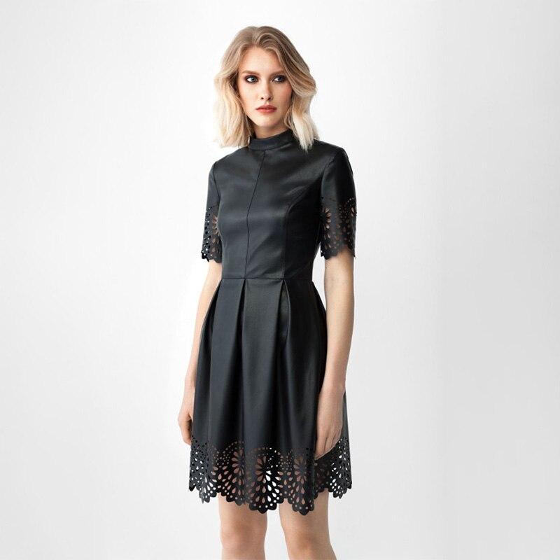 Женское винтажное вечернее платье трапециевидной формы с вырезом-стойкой и коротким рукавом, однотонное Элегантное повседневное платье, л...