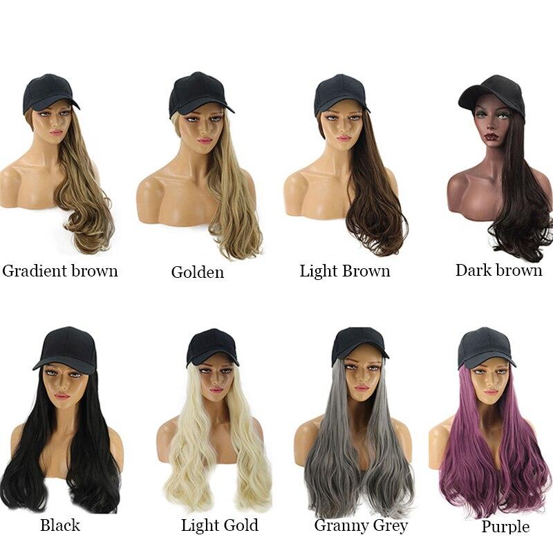 Explosion Style Hair And Hat One-piece Baseball Hat Outdoor Leisure Sun Hat Summer Peak Cap Women
