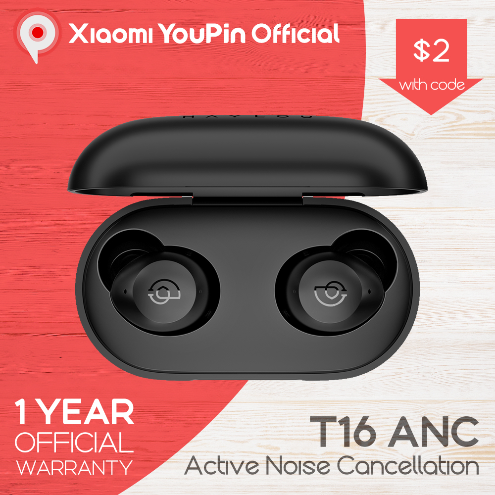 Haylou T16 Earphones ANC Headphones TWS Active Noise Canceling Wireless Bluetooth 5 0 Noise Cancellation from Xiaomi YouPin