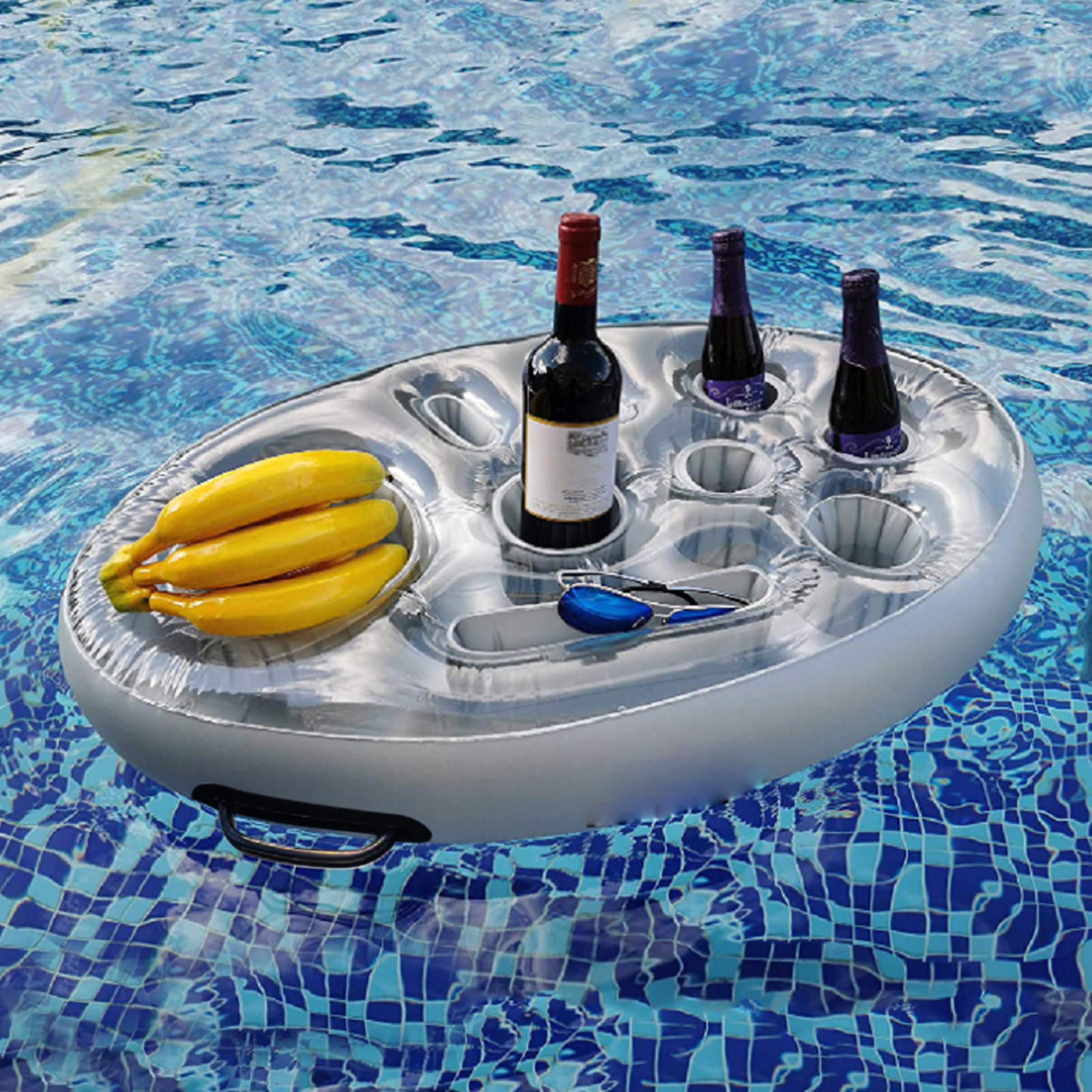 Summer Party Bucket Swimming Pool Bath Toys Cup Holder Inflatable Pool Float Beer Drinking Cooler Swimming Beverage Bar Coasters