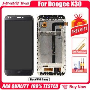 Image 5 - Сменный ЖК экран для DOOGEE X30, 100% оригинальный дигитайзер сенсорного экрана с рамкой, модуль для ремонта