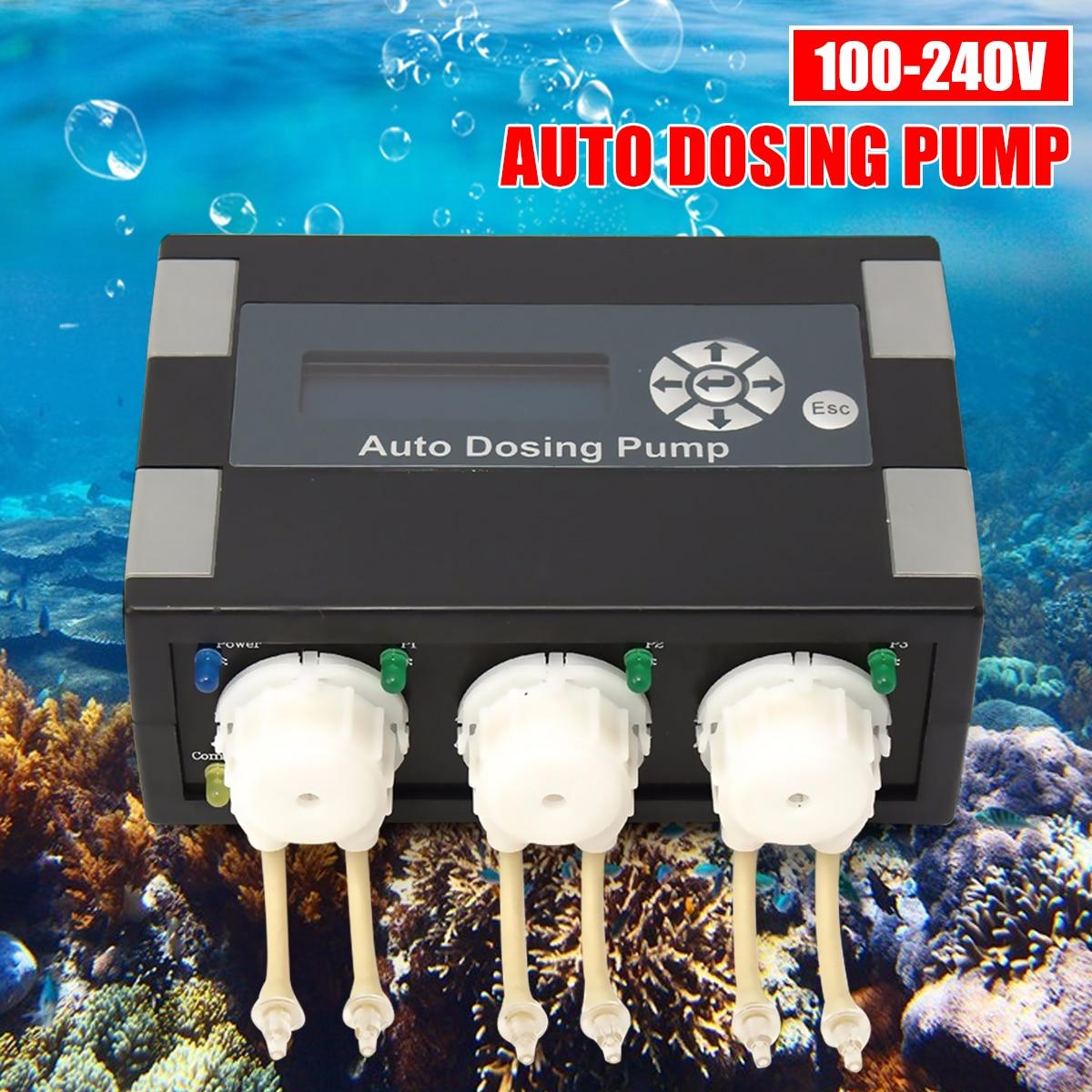 Pompe de titrage automatique Durable de cylindre de corail pompe péristaltique synchronisation automatique de pompe de dosage ajoutée pour l'aquarium marin de récif