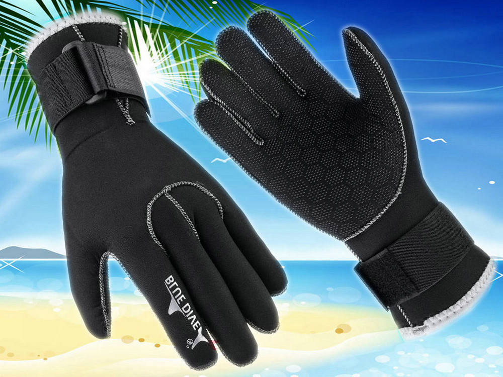 Trend Style Surf Surfing 3MM Neoprene Cold-proof Winter Swim Swimming Scuba Snorkeling Diving Gloves Keep Diving Swimming  #F