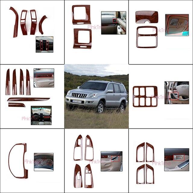 Für Toyota Land Cruiser 120 Prado FJ120 2003 4 5 6 7 2009 Holz Farbe Air Vent Abdeckung Tür Trim abdeckung Auto Innen Zubehör