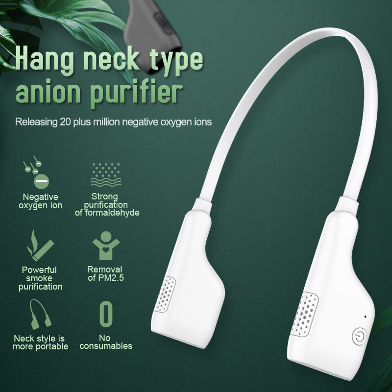 Neck Hanging Anion Air Purifier Wearable Necklace Negative Ions Generator Portable Purifying Car Air Ionizer Freshener Oxygen