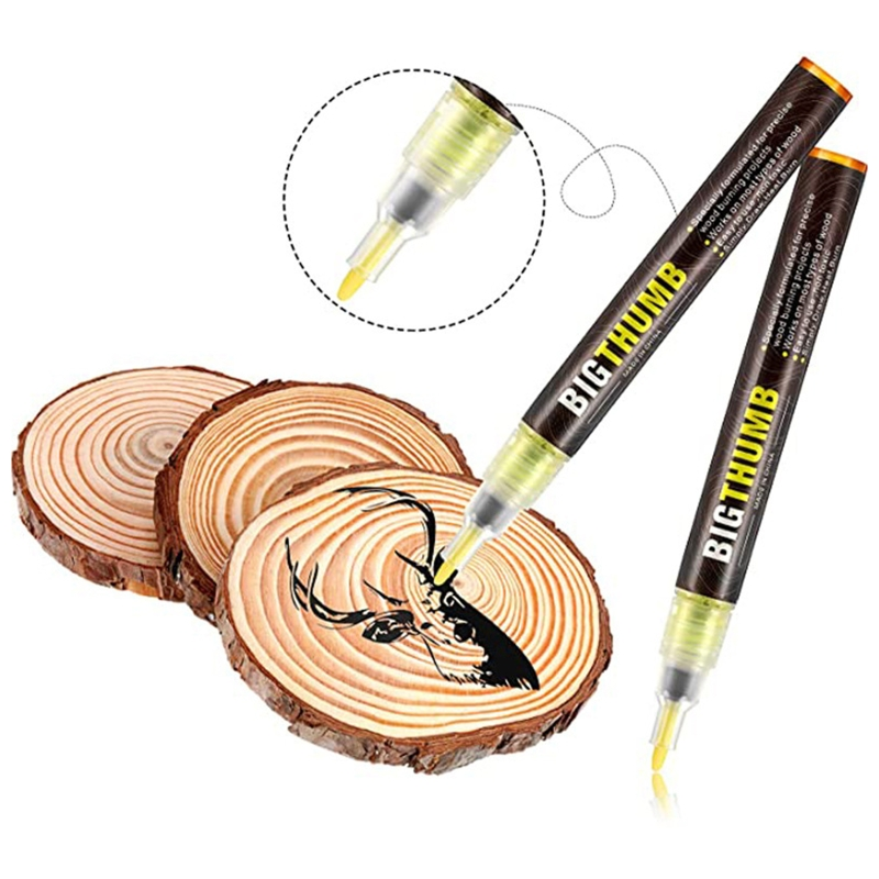 Wood Burning Pen Scorch Burned Marker Pyrography Pens for DIY Projects Fine Tip L41E