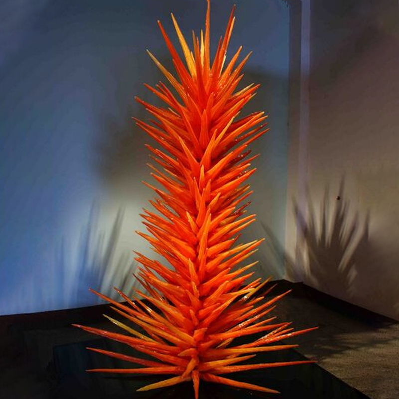 Hot Sale LED Murano Glass Floor Lamp Glass Art Sculpture Standing Lamp For Garden