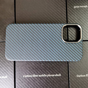 Image 4 - Blue Matte Ultra Light 100% Real Carbon Fiber Case Cover For iPhone12 Mini Case For iPhone 12 Pro Max Lens Protection