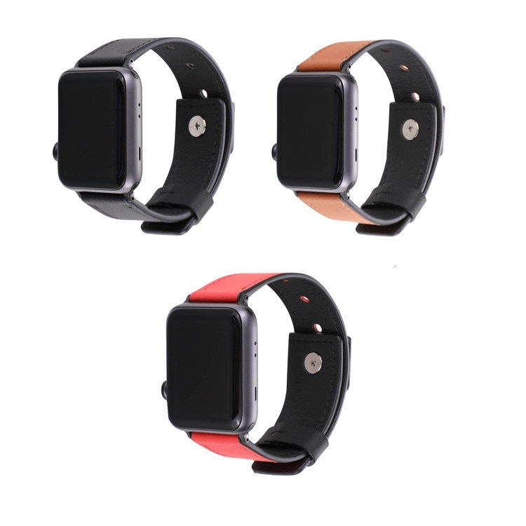 Suitable For APPLE Watch Apple Watch 1, 2, 3, 4 S New Style Leather Buckle Leather Watch Strap