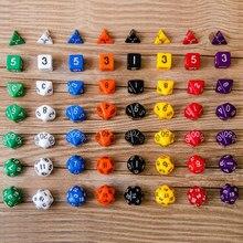 8 unids/set de múltiples dados D4 D6 D8 D10 D12 D20 poliédrico juegos RPG DND dados de juego de entretenimiento dados con bolsa