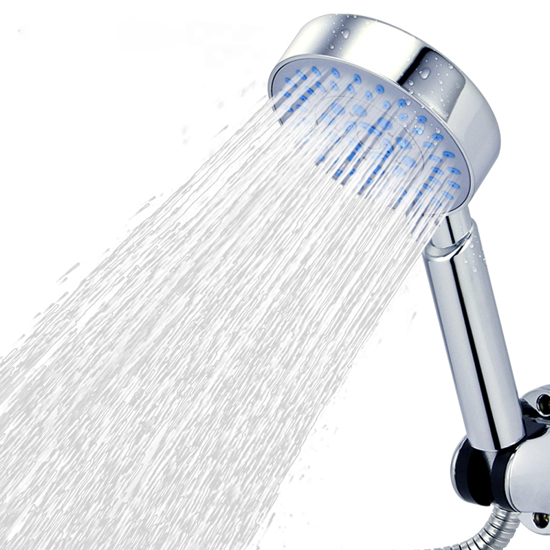 ZhangJi 5 Modes Adjustable Handhold Shower Nozzle Rainfall Spray Shower Head 3.93 Inch Round Panel Water-saving Shower Head