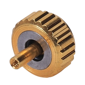 Image 5 - 防水時計クラウン部品交換盛り合わせゴールド & シルバードームフラットヘッドアクセサリー修復ツールキット職人のための