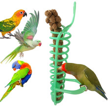 Toy Stand Fruit-Fork Foraging-Device Parrot Plastic Birds with Eating Puppy Chew Teething-Toys