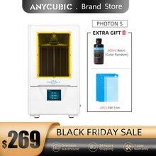 Anycubic Photon S LCD 3D Bộ Máy In Nhanh Lát Cắt 405nm Ma Trận Tia UV Dual Z Trục SLA 3d máy In Photon S Impresora 3d