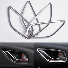 цена на ABS Chrome For Mazda 6 Atenza  2013-2016 Accessories Auto Inner Door Bowl Protector Frame Cover Trim Car Styling 4pcs