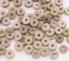 100PCS/25g 8-9mm Natural Flat Found Tube Coconut Shell Loose Beads Thick 2mm casa 25g 8 page 8