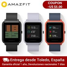 """Amazfit Bip Смарт часы отражение цветной экран 1,2"""" Baro IP68 Водонепроницаемый gps для Android и iOS(черный цвет"""