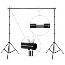 8.5ftx9.8ft / 2.6M X 3M Achtergrond Ondersteuning Stand Verstelbare Fotografie Studio Achtergrond Support System Kit Met Draagtas
