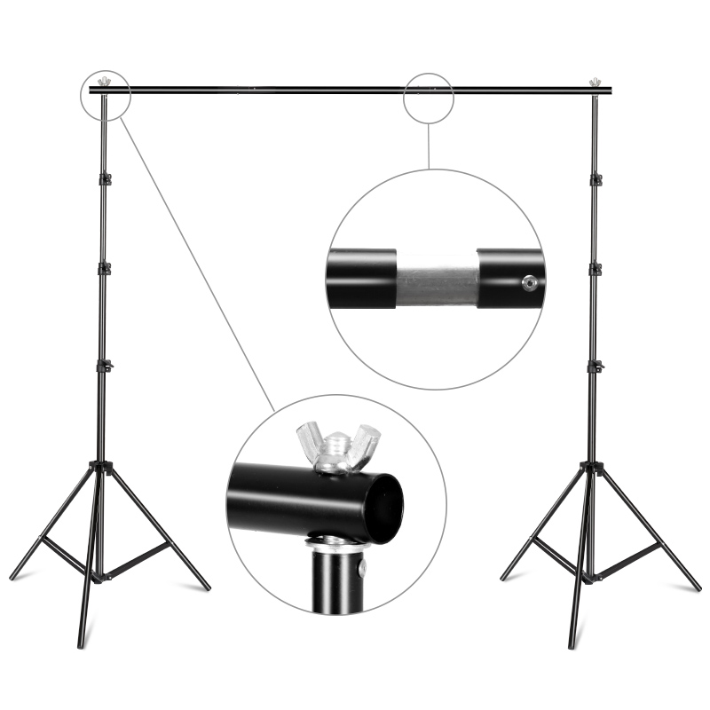 8.5ftx9.8ft / 2.6M X3M Backdrop Support Stand Adjustable Photography Studio Background Support System Kit With Carrying Bag