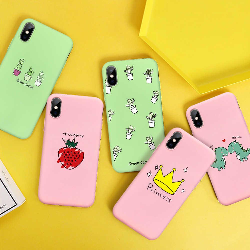 צבעוני רך TPU טלפון מקרה עבור iPhone 11 פרו מקסימום 11 2019 Xs מקס Xs Xr X יפה אבוקדו דפוס מקרה עבור iPhone 11 פרו 2019