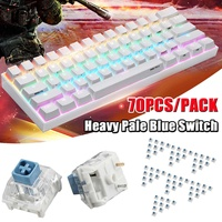 LEORY 70Pcs Kailh BOX Heavy Pale Blue Switch Keyboard Switches for Keyboard Mechanical DIY Keycap Switch Gaming Switch
