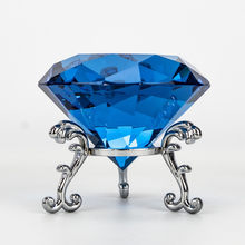 Clear Crystal diamond with base Shape Paperweight glass gem display Ornament Wedding Home Decoration Art Craft Material Gift