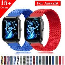 Trenzado solo bucle de nylon, 20mm, 22mm, banda para Samsung galaxy ver 46mm 42mm para Amazfit huawei watch gt2 2e Gts Bip Gtr 42mm Correa