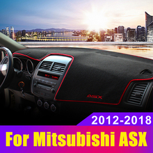 Car Dashboard Avoid Light Pad Instrument Platform Desk Cover Mats Carpets for Mitsubishi ASX 2012 2013 2014 2015 custom rubber car floor mats for mitsubishi asx waterproof durable carpets for asx