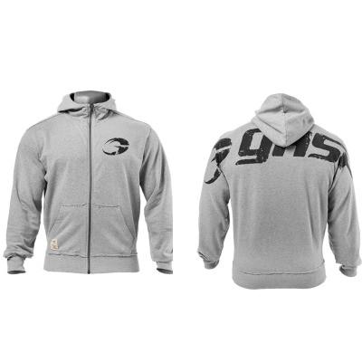 GASP Men  Hooded Bodybuilding Training Suit Loose Sportwear Musclewear MEN Breathable Sweat Absorption Cotton Hoodies Coat