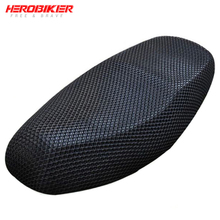 HEROBIKER New Summer Cool 3D Mesh Motorcycle Seat Cover Breathable Sun-proof Motorbike Scooter Covers Cushion For Honda Yamaha Suzuki