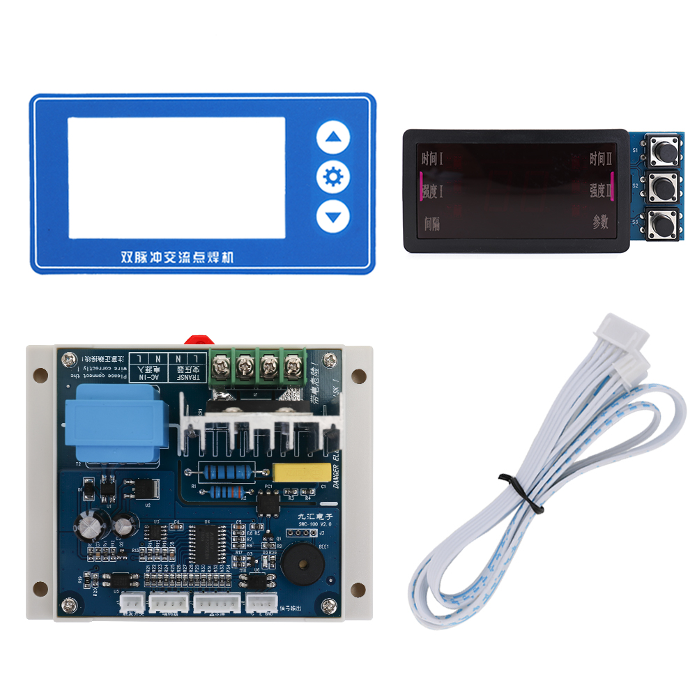 Double Pulse Encoder Spot Welding Machine Control Panel Module Controller Board DIY With Stable Motherboard Plastics Base