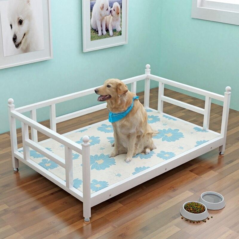 Прозрачная текстура собачья кровать съемная и моющаяся средняя большая собака железная собачья Конура Антибактериальная и защита от плесе