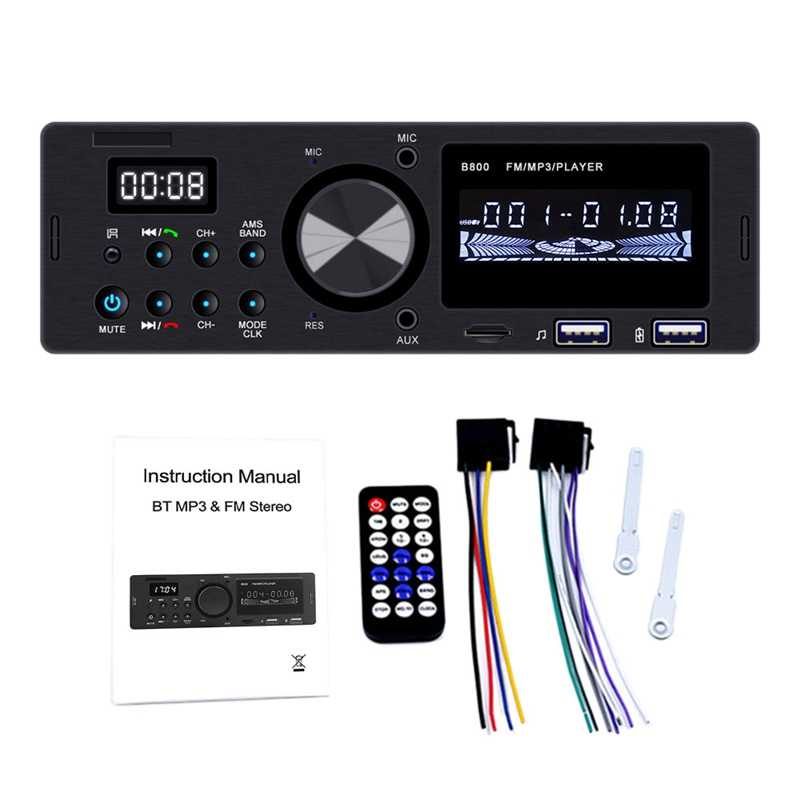 Rádio do receptor dos meios de digitas do carro com controle incorporado de bluetooth e de usb para ipod/iphone e telefones de android com remo sem fio