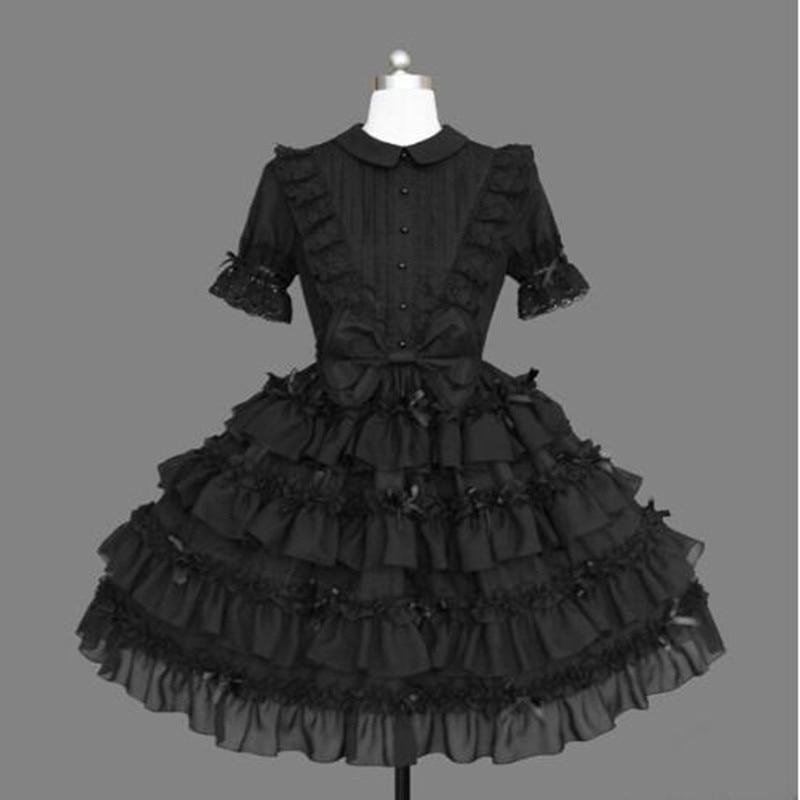 Loli op gothique lolita robe lolita japonaise faux deux pièces dentelle bowknot robe victorienne classique lolita kawaii fille robe gothique